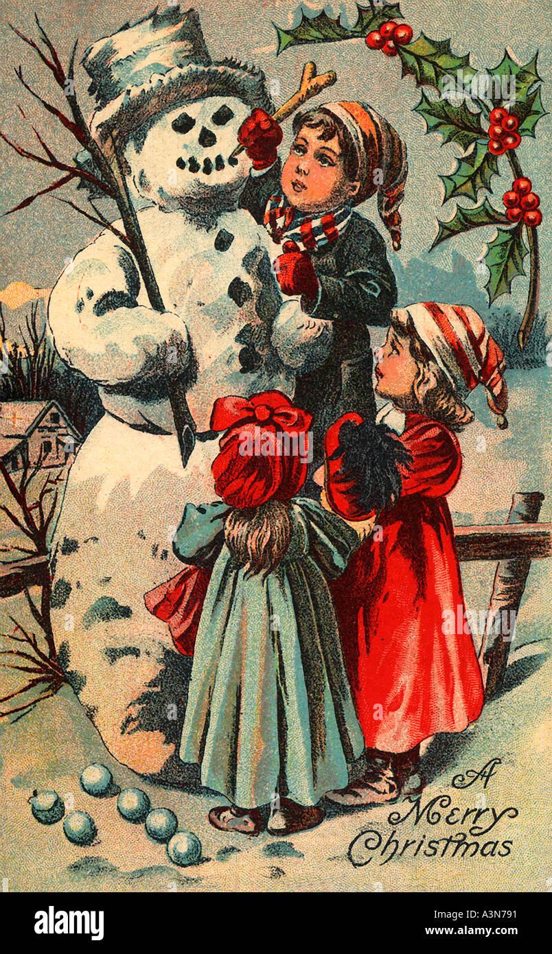 Set di 10 biglietti pieghevoli l con design a soli 11,69 € anziché 12,99 €. Cartolina Di Natale Vintage Immagini E Fotos Stock Alamy