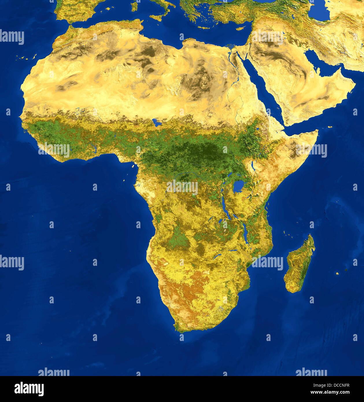 Avhrr Colore Naturale Immagine Satellitare Dell Africa E