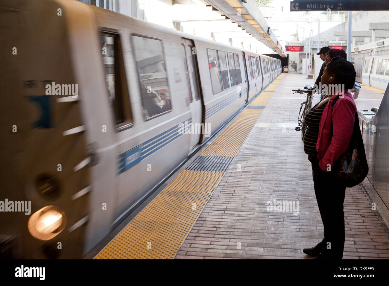 Treno Bart San Francisco California Usa Foto Immagine