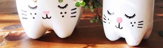 DIY: como fazer vasos de plantas com garrafas de plástico - Moda & Style