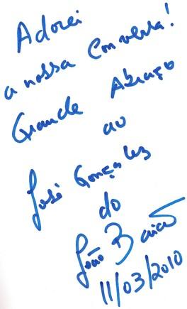 Autografo J. Baião