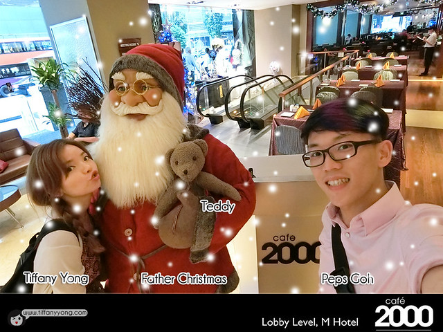Hotel Christmas buffet M Hotel Cafe 2000 Tiffany Yong Peps Goh