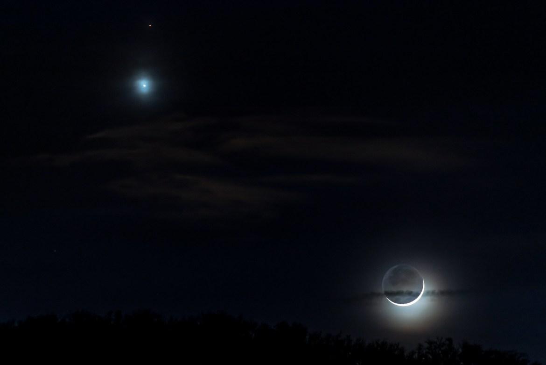 Mars, Venus & Mond