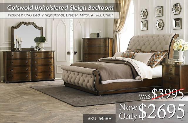 Cotswold Upholstered Bedroom Set 545BR