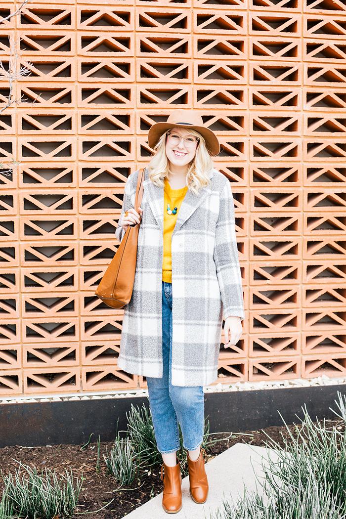 austin style blogger grey coat mustard sweater2