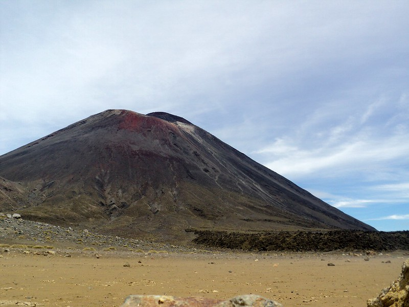 Mount Doom or Mount Ngauruhoe, on the Tongariro Crossing, North Island, New Zealand - the tea break project solo female travel blog