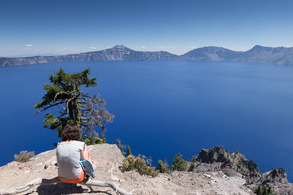 Am Südrand des Crater Lakes