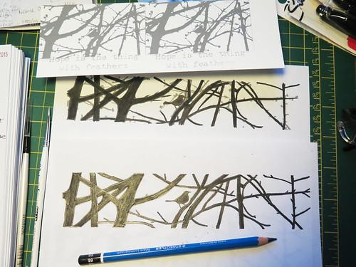 Blackbird Silhouette Drawing