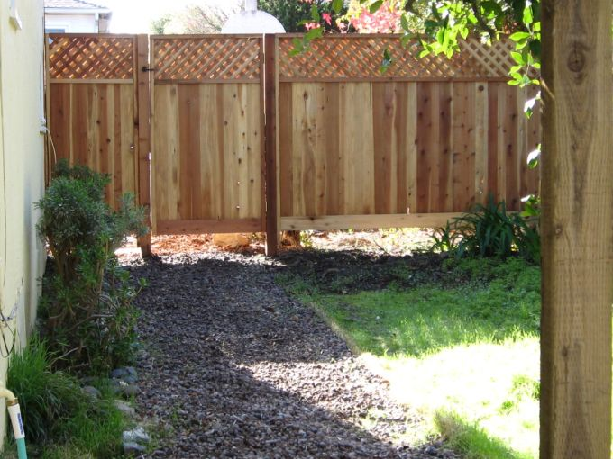 New Fence in the backyard at the duplex #thelovelygeek