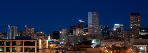 Denver Skyline at Blue Hour