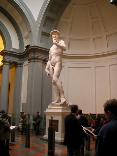 El David de Miguel Ángel en la Galería de la Academia. ViajerosAlBlog.com.