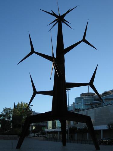 Escultura en el Parque de las Naciones. ViajerosAlBlog.com.