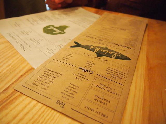 menu + drinks menu
