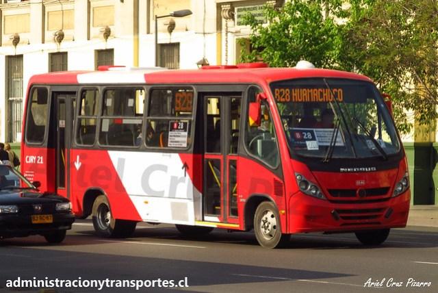 Transantiago B28 | Redbus | Neobus Thunder - Mercedes Benz / CJRY21