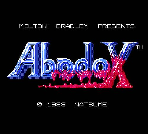Abadox title screen