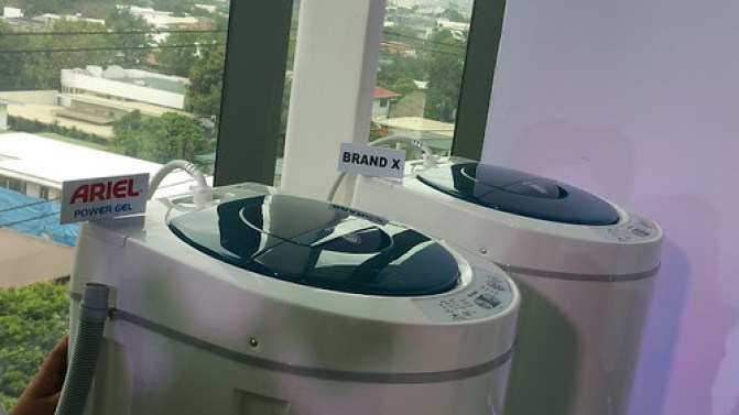 The washing machines for the test