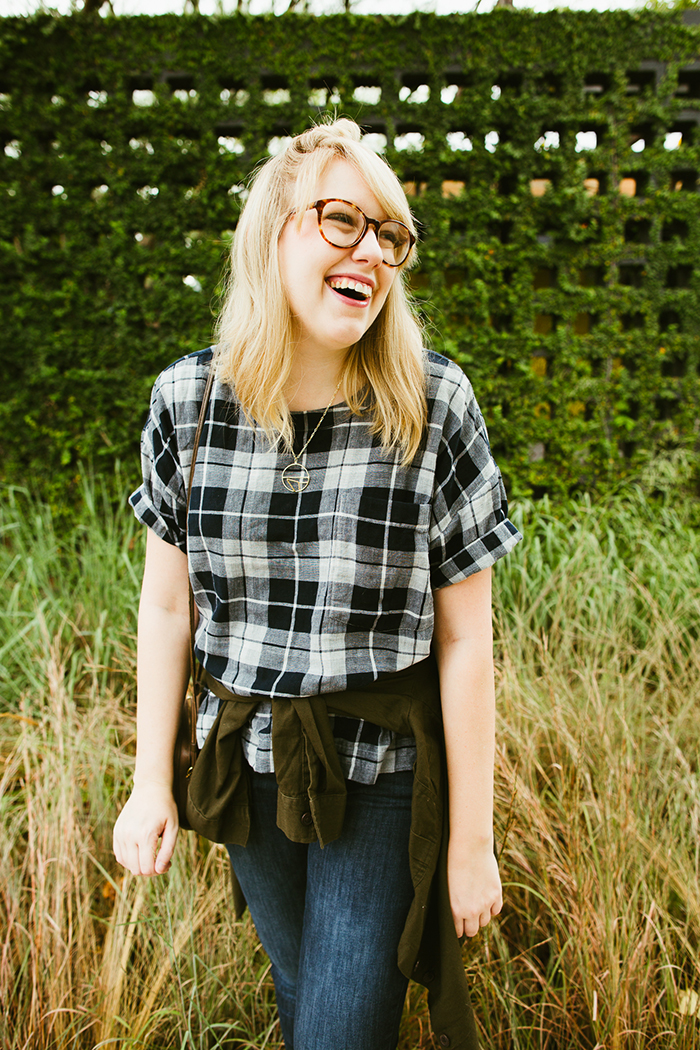 writes like a girl madewell emporia plaid shirt fall outfit11