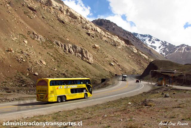 El Rápido Internacional | Paso Los Libertadores | Metalsur Starbus 2 - Scania / OXG591 (7051)