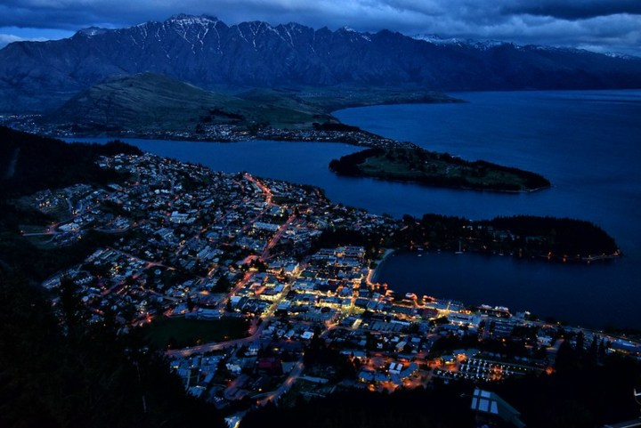 Queenstown view at dawn
