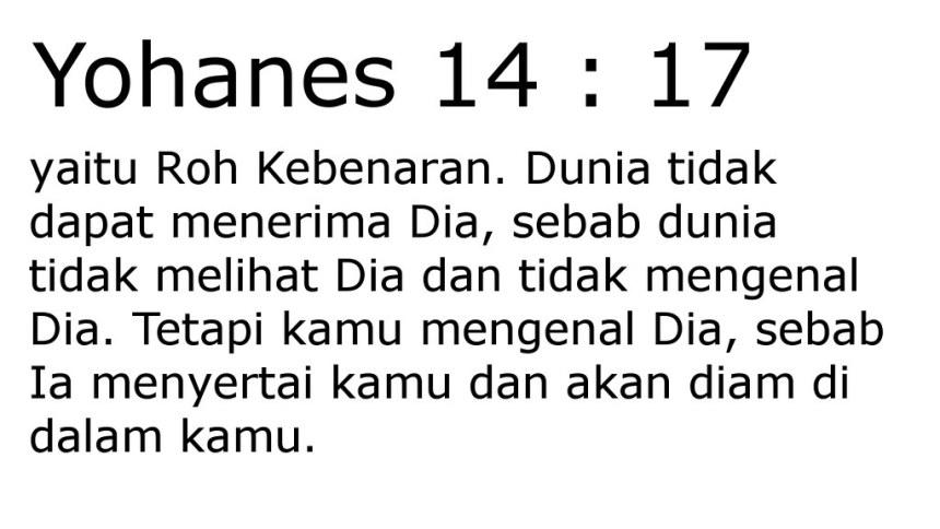 yoh 14 17