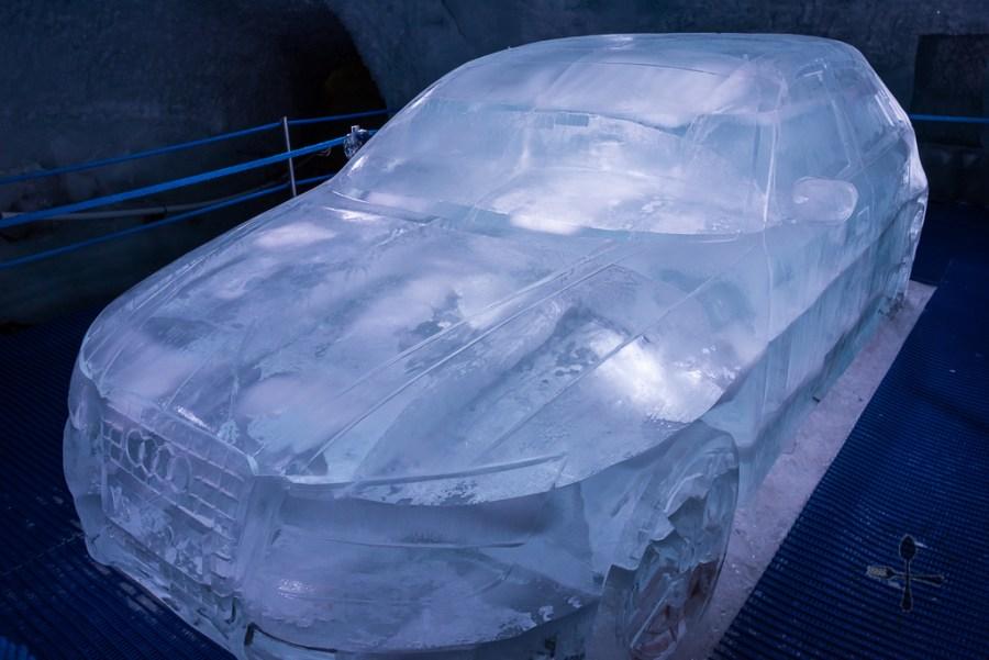 Audi car made of ice
