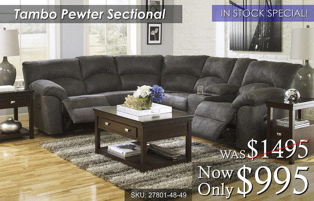 27801 Tambo Pewter Sectional
