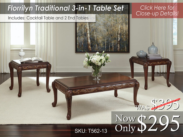 Florrilyn Traditional Occasional Table Set
