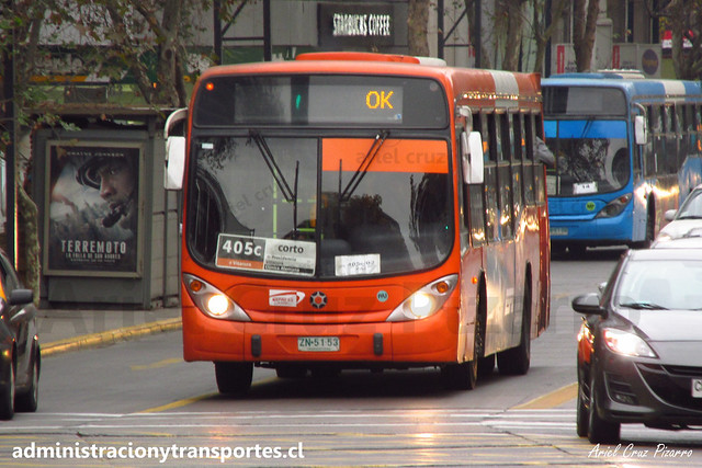 Transantiago - 405c | Express | Marcopolo Gran Viale - Volvo B7R LE / ZN5153 (Rígido)