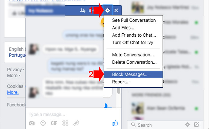 Block messages - Facebook Chat