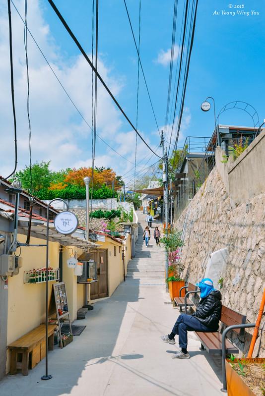 Seoul 2016 ihwa mural village quaint little town wy for Mural village