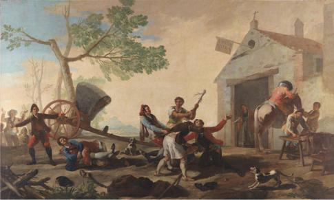 16e19 Goya Riña en la venta nueva