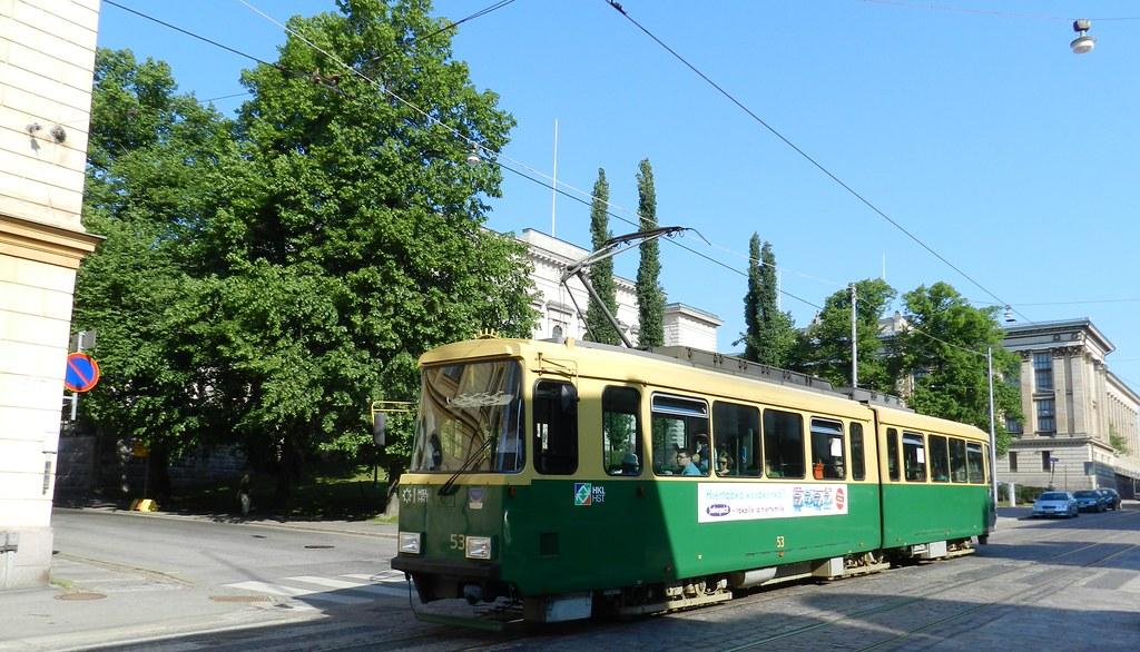 Medios de Transporte tranvia Helsinki Finlandia 02