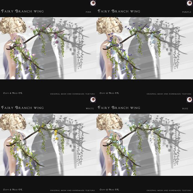 *NAMINOKE*Fairy Branch Wing - 4 color