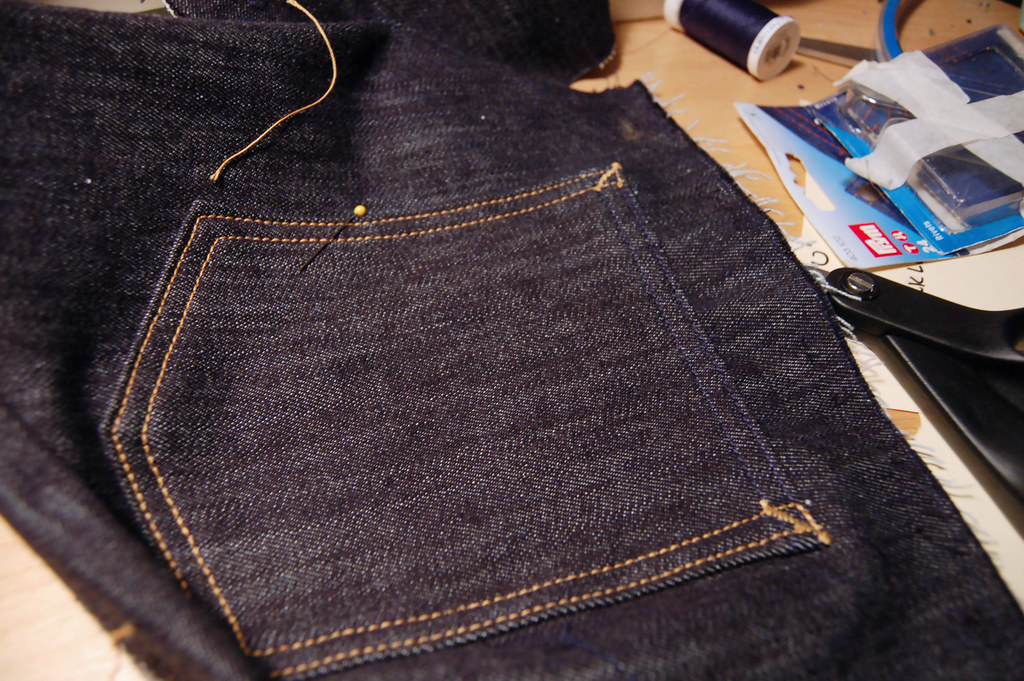 How to make back pockets on jeans like a pro