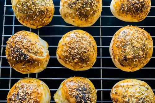 soft, delicious, golden brown buns