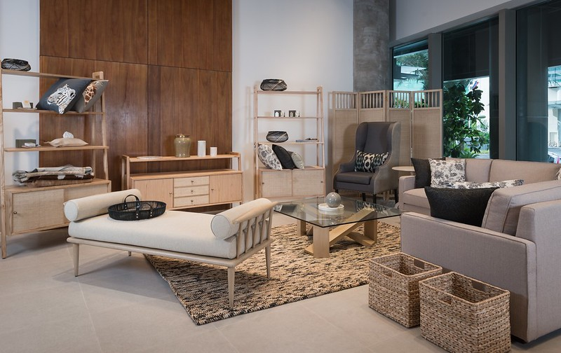 Philux Home- Valencia Bench, Copen Shelves, Chevert Coffee Table, Marquis Sectional