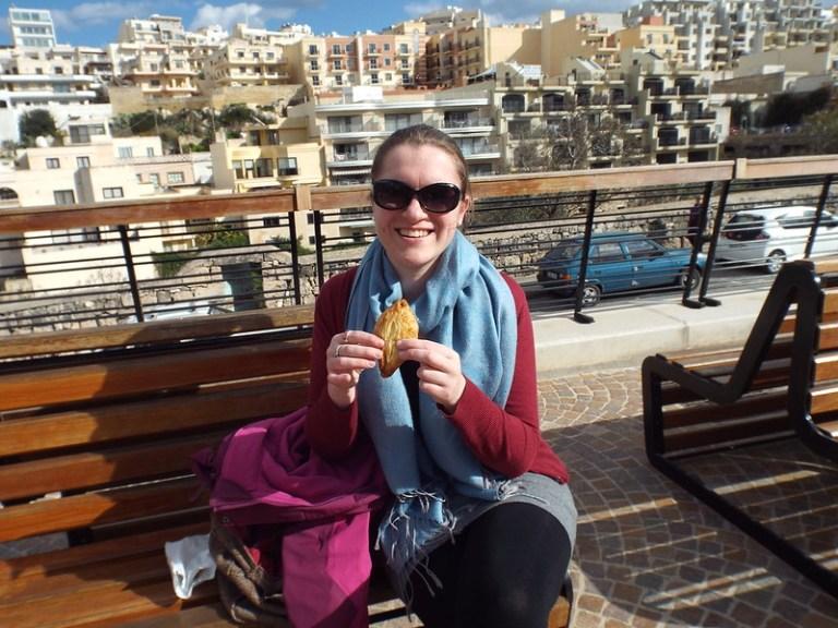 pastizzi in Mellieha, Malta - the tea break project solo female travel blog
