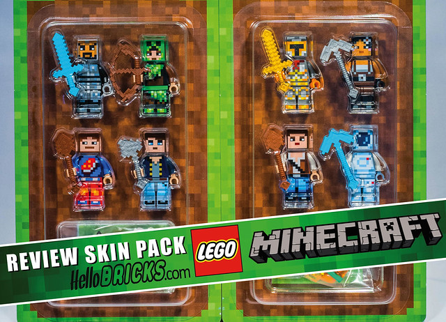 Review LEGO Minecraft Skin packs