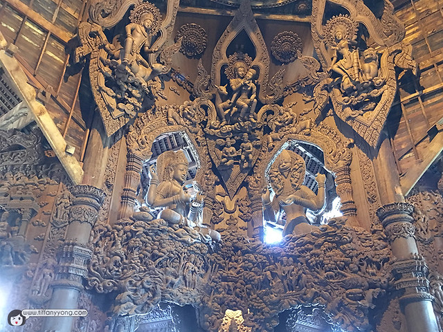 Wooden Carvings Sanctuary of Truth Pattaya