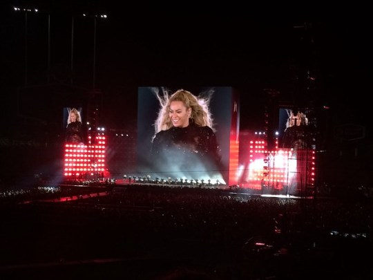 Beyoncé at Dodger Stadium