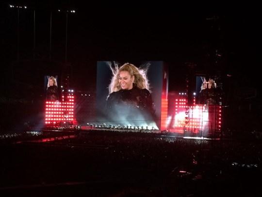 Beyoncé at Dodger Stadium