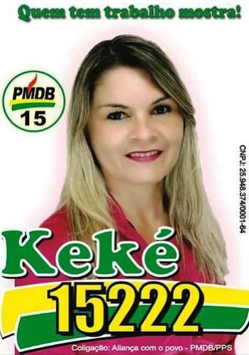 Palanque. Keké, do PMDB, Oriximiná,keke - candidata a vereadora - Oriximiná