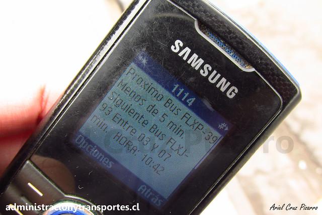 SMS Bus Transantiago | Samsung GT-e2121