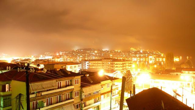 Fog in the city 9-11-08 - Night fog in the city skys, Kastoria. -55-