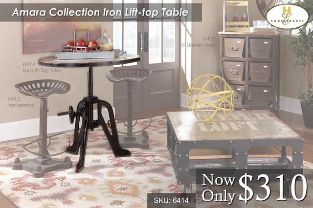 Amara Collection Iron Lift Top Table