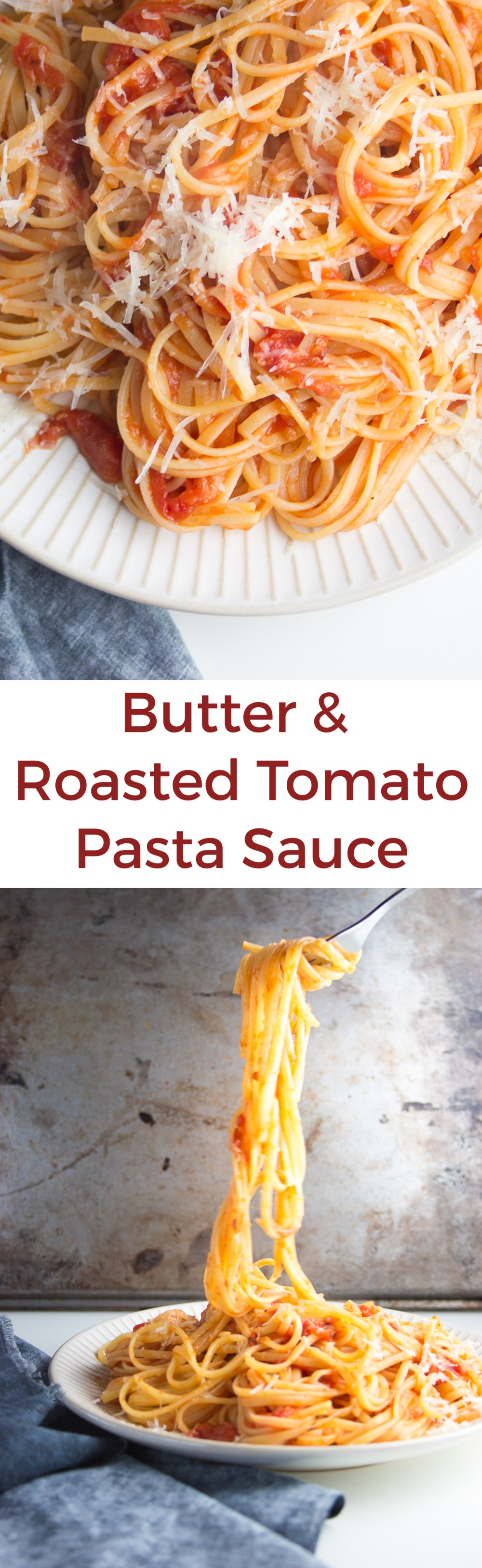 butter & roasted tomato pasta sauce on inthiskitchen.com