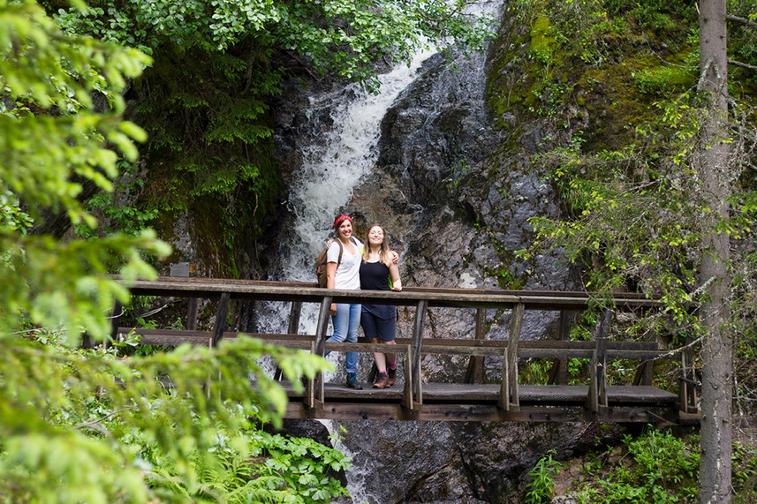 waterfall-forest-st-anton-alps-hike