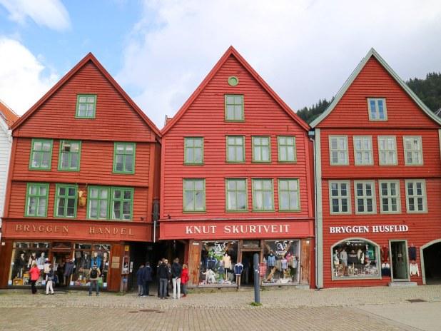 Bryggen desde el puerto