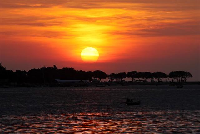 Sunset at Losari Beach
