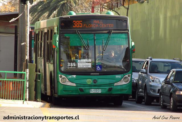 Transantiago 385 | Buses Vule | Caio Mondego H - Mercedes Benz / BJFS25